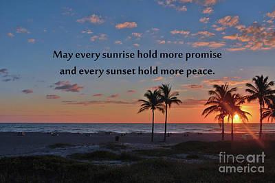 Photograph - 286- May Every Sunrise by Joseph Keane