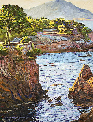 Impressionism Paintings - Riviera Sea Cove by David Lloyd Glover