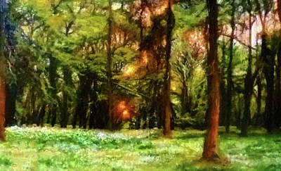 Yellow Painting - Nature Landscape Light by Edna Wallen
