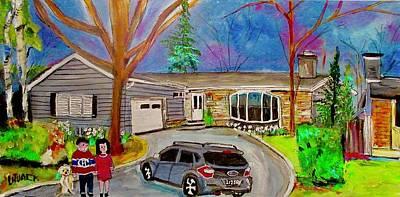 Painting - 29 Aldercrest Dollard Des Ormeaux The Family by Michael Litvack