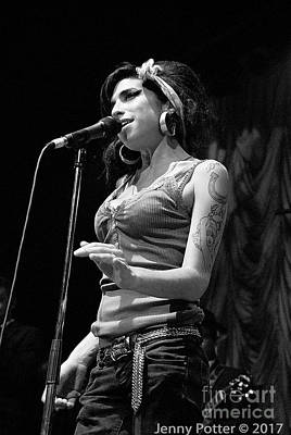 Photograph - Amy Winehouse Photo 17 by Jenny Potter