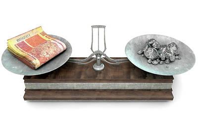 Scale Digital Art - Balance Scale Comparison by Allan Swart