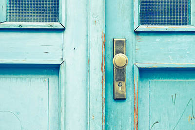 Blue And Brown Photograph - Blue Door by Tom Gowanlock