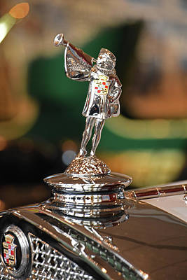 Photograph - '29 Cadillac Hood Ornament by Mike Martin
