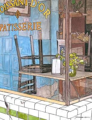 Oyster Painting - 29  Croissant D'or Patisserie by John Boles