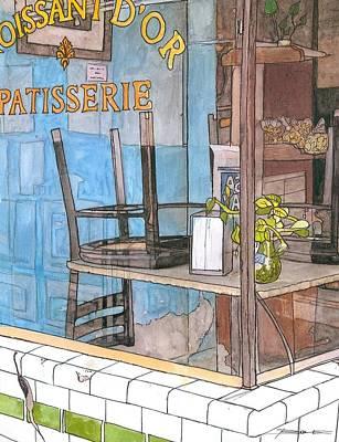 29  Croissant D'or Patisserie Art Print by John Boles