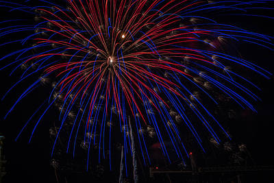 Photograph - Fireworks 2015 Sarasota 9 by Richard Goldman