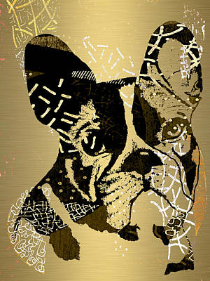 Puppy Mixed Media - French Bulldog Collection by Marvin Blaine