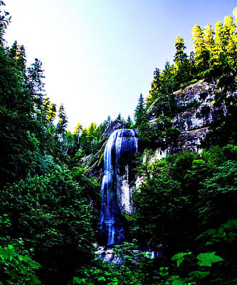 Target Threshold Nature - Golden and Silver Falls by Angus Hooper Iii