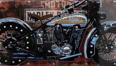 Bicycle Mixed Media - 29 Harley by Gary Kroman
