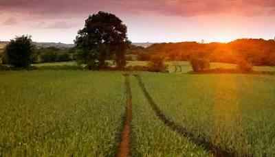 Yellow Digital Art - In The Landscape by Landscape Art