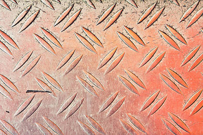 Flattened Photograph - Metal Background by Tom Gowanlock