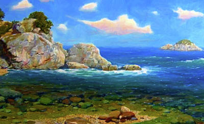 Oil Painting - Nature Landscape Painting by Edna Wallen
