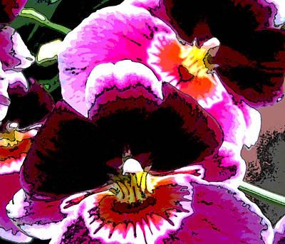 Orchid Digital Art - Nature Series by Ginger Geftakys