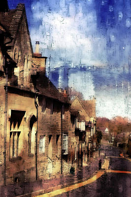 Town Houses  Art Print by Tom Gowanlock