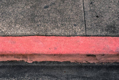 Photograph - Red Curb by Mark Holcomb