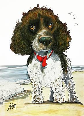 Beach Drawings - 2943 Kesner by John LaFree