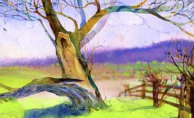Landscape Painting - Nature Painted Landscape by Edna Wallen