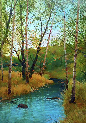 Winter Painting - Nature Landscape Painting by Edna Wallen