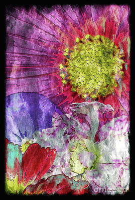 Painting - 29a Abstract Floral Painting Digital Expressionism by Ricardos Creations