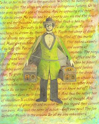 Art Print featuring the mixed media 2b Or Not 2b by Desiree Paquette