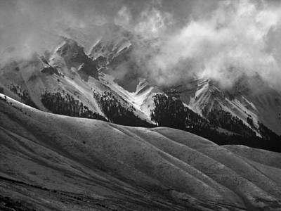Photograph - 2d07522-bw-dc Storm Clouds Over Lost River Range by Ed Cooper Photography