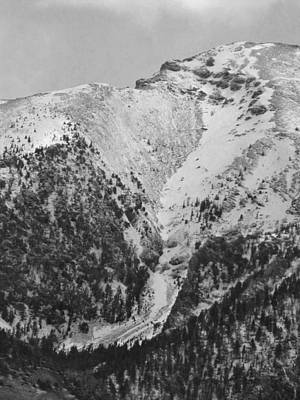 Photograph - 2d07523-bw-dc Avalanche Slope by Ed Cooper Photography