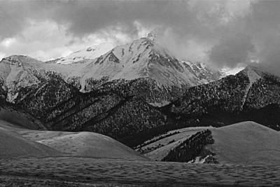Photograph - 2d07526-bw Storm Over The Lost River Range by Ed Cooper Photography