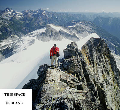 Photograph - 2m04201  2m04202 Jim Nelson On Top Of Mt. Challenger by Ed Cooper Photography