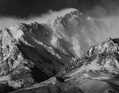 Photograph - 2m6470 Bw Winter Winds Screaming Over Mt. Bradley by Ed Cooper Photography