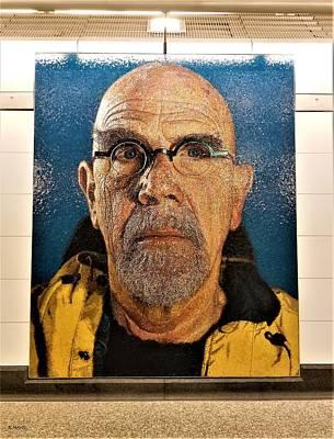 Photograph - 2nd Ave Subway Art Chuck Close 1 by Rob Hans