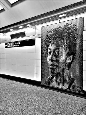 Photograph - 2nd Ave Subway Art Kara Walker B W 1 by Rob Hans