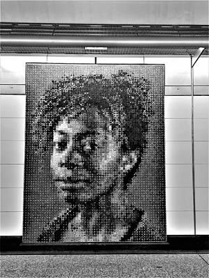 Photograph - 2nd Ave Subway Art Kara Walker B W by Rob Hans