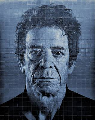 Photograph - 2nd Ave Subway Art Lou Reed Cyan by Rob Hans