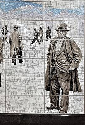 Photograph - 2nd Ave Subway Art Old Timers 3 by Rob Hans
