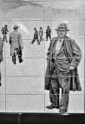 Photograph - 2nd Ave Subway Art Old Timers B W 2 by Rob Hans