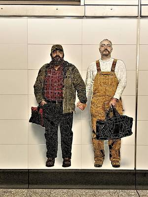 Photograph - 2nd Ave Subway Art Perfect Strangers14 by Rob Hans
