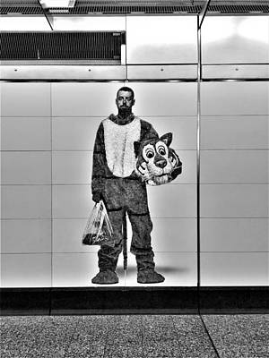 Photograph - 2nd Ave Subway Art Perfect Strangers7 B W by Rob Hans