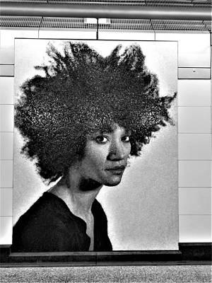 Photograph - 2nd Ave Subway Art Sienna Shields B W by Rob Hans