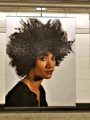 Photograph - 2nd Ave Subway Art Sienna Shields by Rob Hans