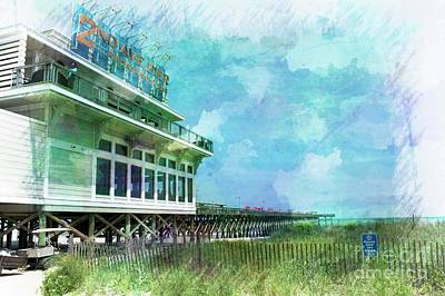 Mixed Media - 2nd Avenue Pier Myrtle Beach by Bob Pardue