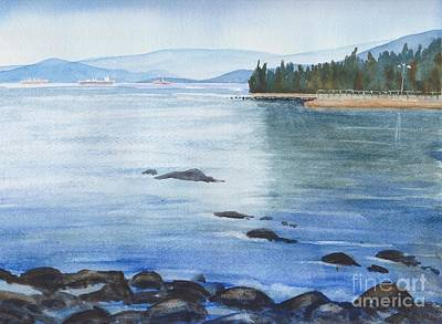 Painting - 2nd Beach, Vancouver by Yohana Knobloch
