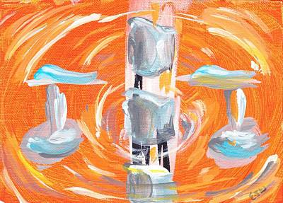 Second Chakra Painting - 2nd Chakra / Sacral Chakra by Ellen Jenny Watkins
