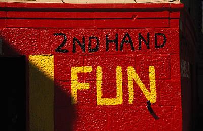 2nd Hand Fun Art Print by Carl Purcell