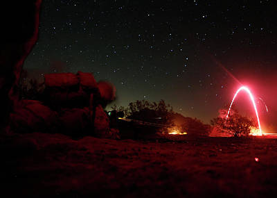 Photograph - 2nd Marine Division Engages Targets During An Assault Support Tactics 2 Ast 2 Raid by Paul Fearn