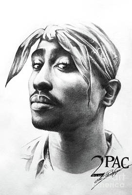 Drawing - 2pac by Lin Petershagen