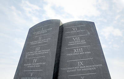 Ten Commandments Digital Art - 10 Commandments In Desert by Allan Swart