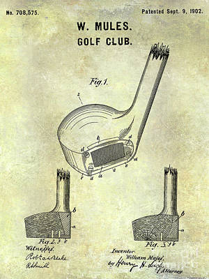 1902 Golf Club Patent Art Print