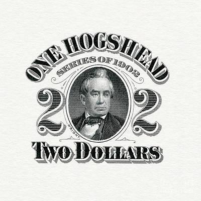 1902 Hogshead Beer Tax Stamp Art Print