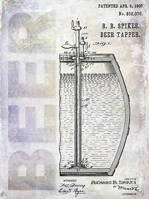 1907 Beer Tapper Patent Art Print